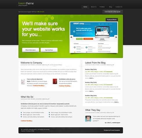 Template Image for LoremTheme - HTML Template