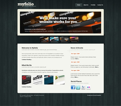 Template Image for Myfolio - Website Template