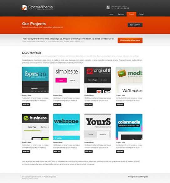 Optima website template corporatebusiness website templates template optima website template accmission Gallery