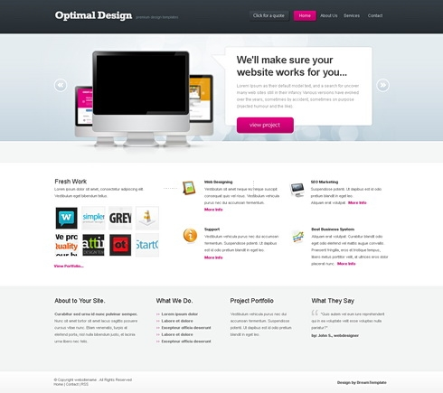 Template Image for OptimalDesign - Website Template