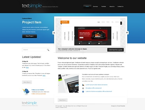Template Image for SimpleText - Website Template