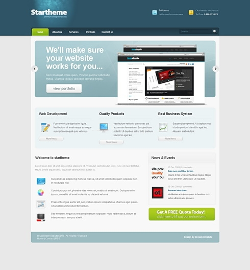 Template Image for StarTheme - Website Template
