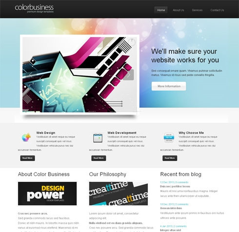 Template Image for ColorBusiness-Cuber - Website Template