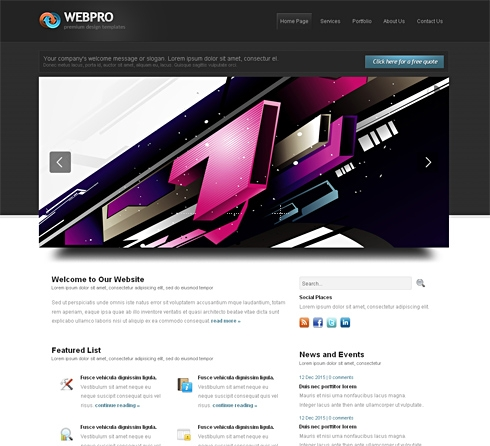 Template Image for Webpro-Cuber - Website Template