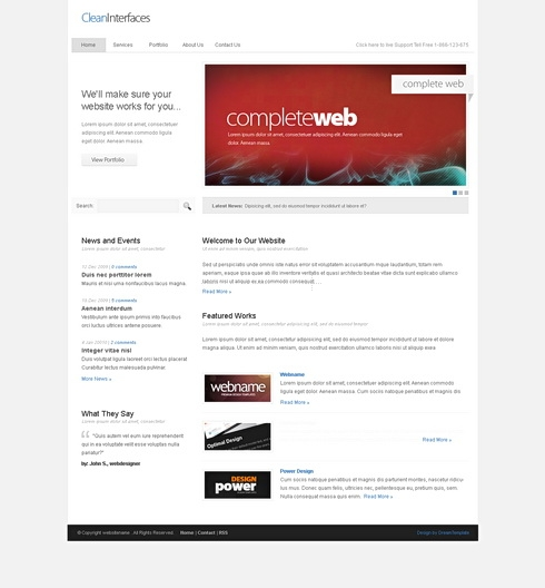 Template Image for CleanInterface - HTML Template