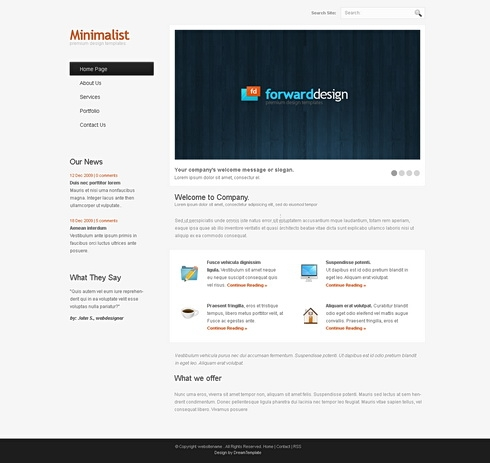 Template Image for ClearMinimalist - Website Template