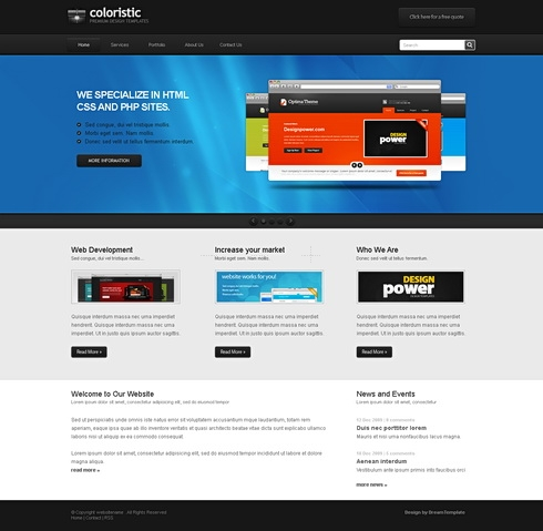 Coloristic - HTML Template - Personal/Creative - Website Templates ...