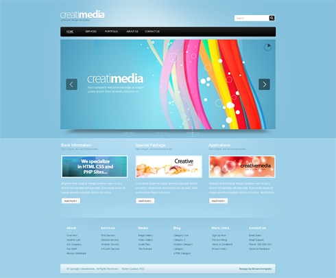 Template Image for Creatimedia-Cuber - CSS Template