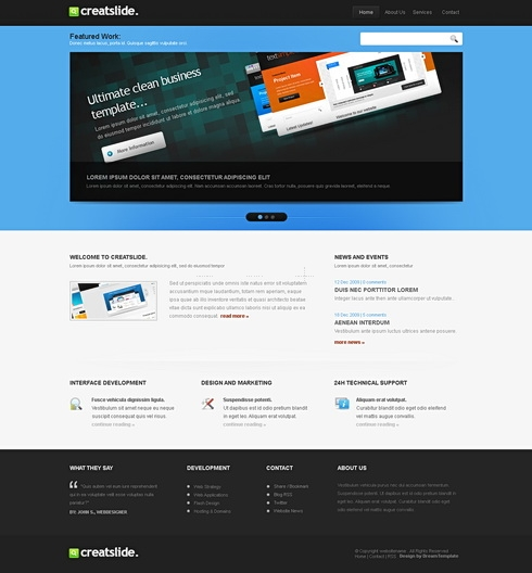 Template Image for CreatSlide - Website Template