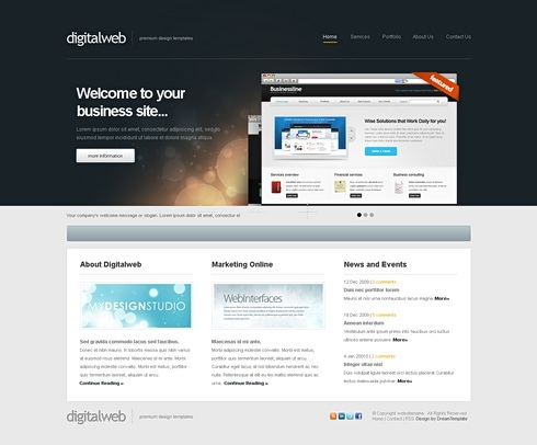 Template Image for DigitalWeb - HTML Template