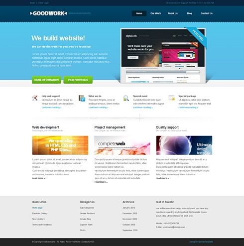 Template Image for GoodWork - Website Template
