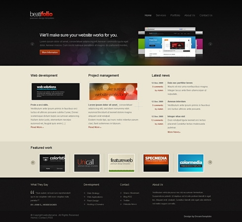 Template Image for Infocus - Website Template