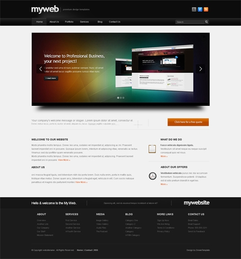 Template Image for Myweb-cuber - Website Template