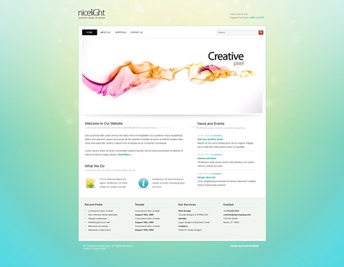 Template Image for NiceLight-Cuber - HTML Template