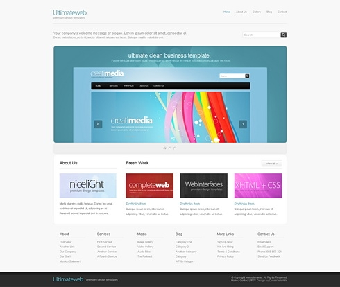 Template Image for UltimateWeb - HTML Template