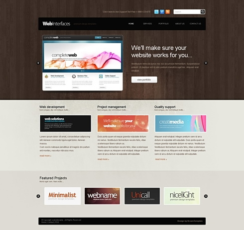 Template Image for Woodenui -  HTML Template