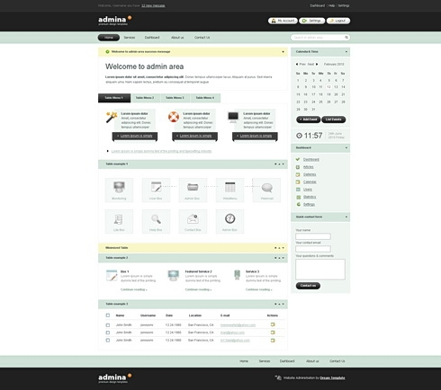Template Image for SoftAdmin - CSS Template
