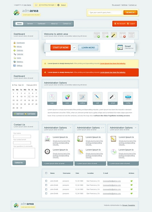 Template Image for VectorAdmin - HTML Template