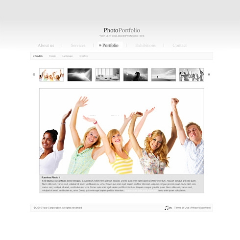 Template Image for UltraCleanGallery - HTML Template