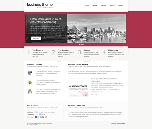 Template Image for Businesstheme - Website Template