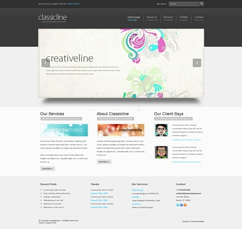 Template Image for ClassicLine-Cuber - HTML Template