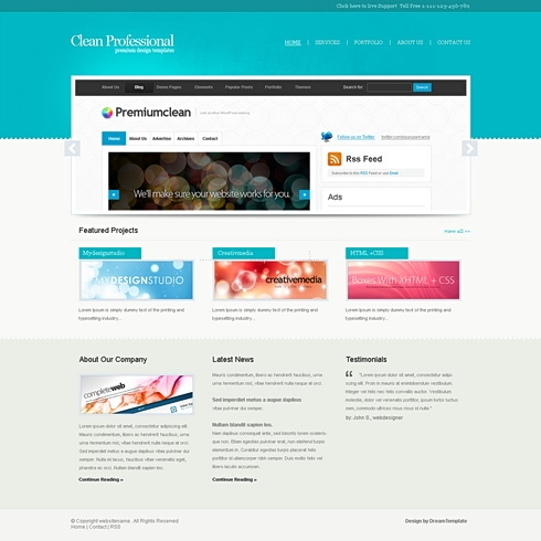 Template Image for CleanProfessional - HTML Template