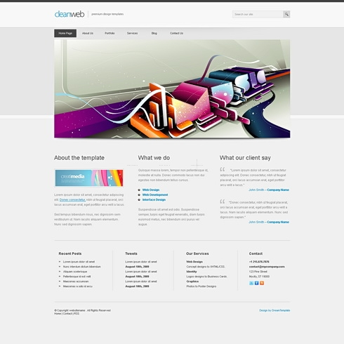 Template Image for Cleanweb-cuber - Website Template