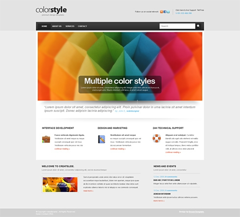 Template Image for Colorstyle-Cuber - CSS Template