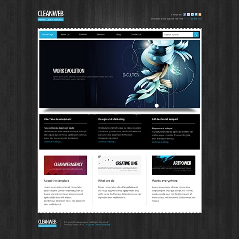 Template Image for Darkweb-Cuber - CSS Template