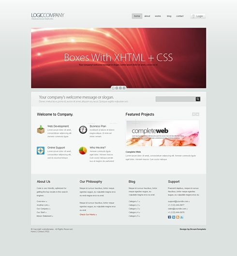 Template Image for LogicCompany - HTML Template