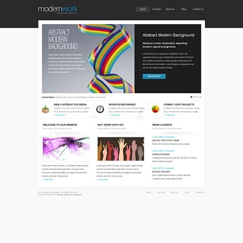 Template Image for ModernWork - HTML Template