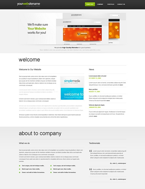 Template Image for OnePageFitsAll-Cuber - Website Template