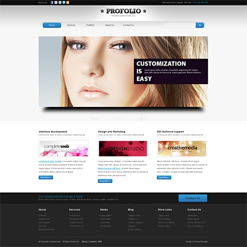 Template Image for ProFolio-Cuber - HTML Template