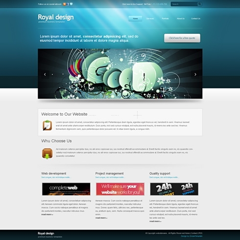 Template Image for RoyalDesign-Cuber  - HTML Template