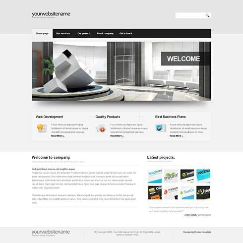 Template Image for SilverLight-Cuber - Website Template