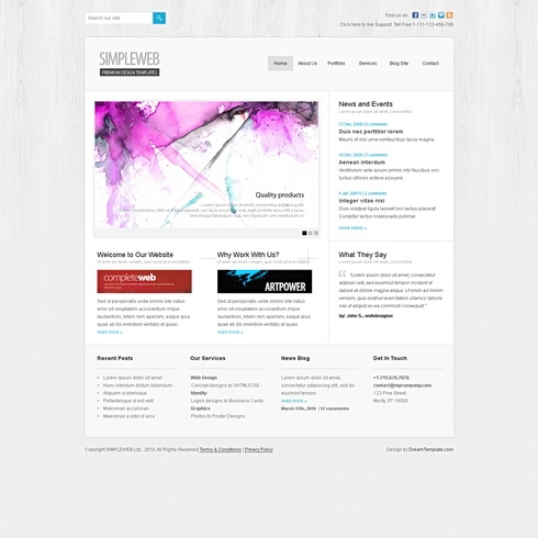 Template Image for SimpleWeb - Website Template