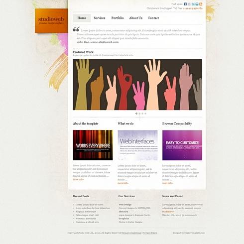 Template Image for StudioWeb - Website Template