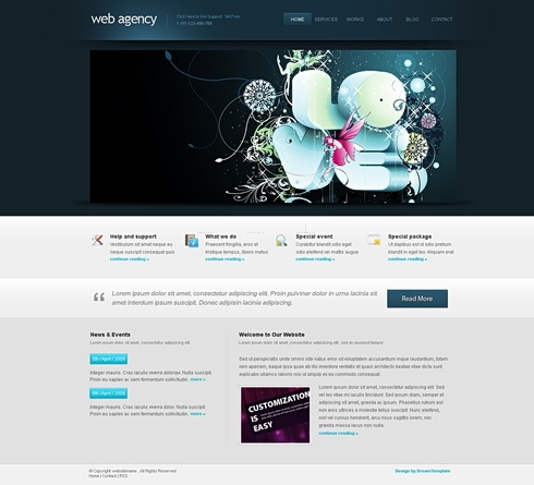 Template Image for Webagency-Cuber - Website Template