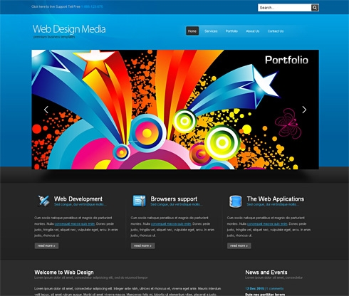 Template Image for WebDesignMedia-Cuber - HTML Template