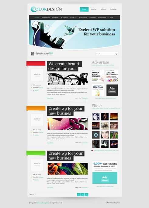 Template Image for ColorTip - WordPress Template