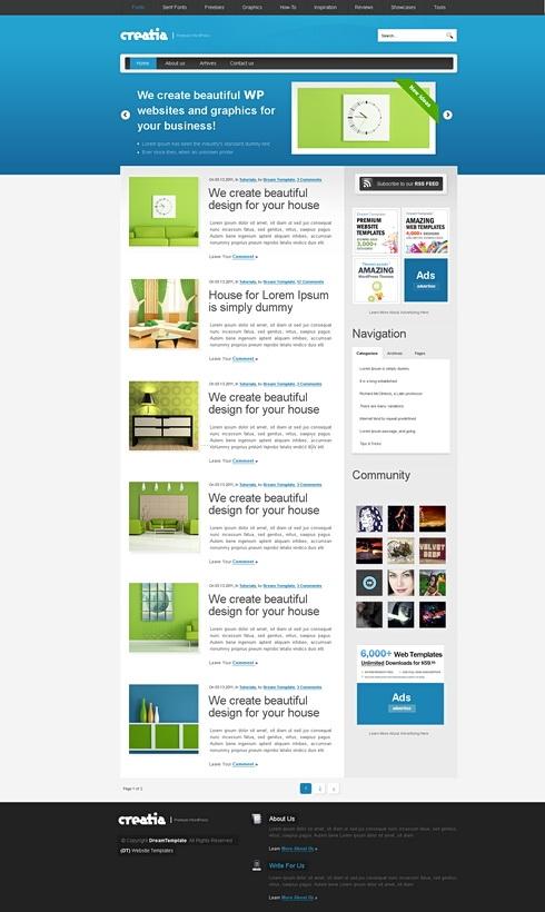 Template Image for CyanSlide - WordPress Template