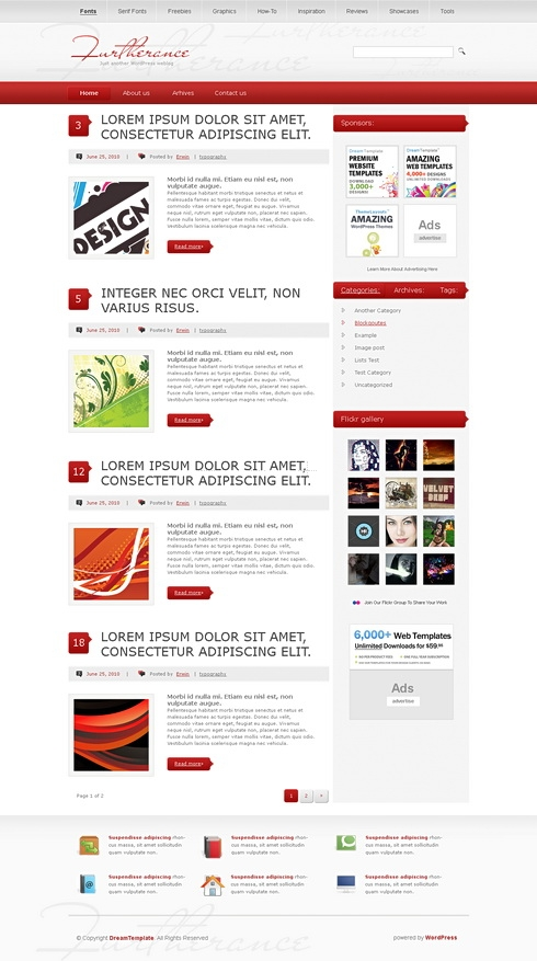 Template Image for RedRock - WordPress Theme