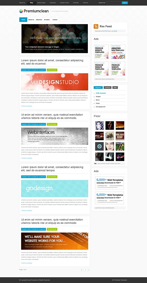 Template Image for StandardOne - WordPress Theme
