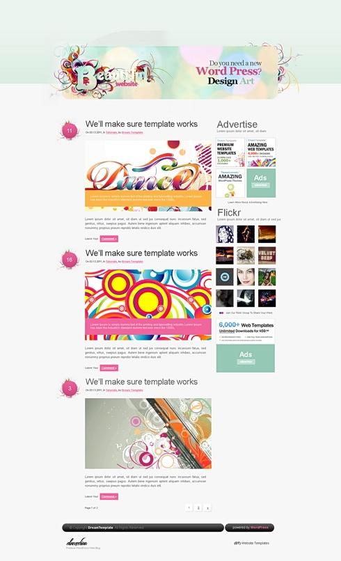 Template Image for FantasyLand - WordPress Template