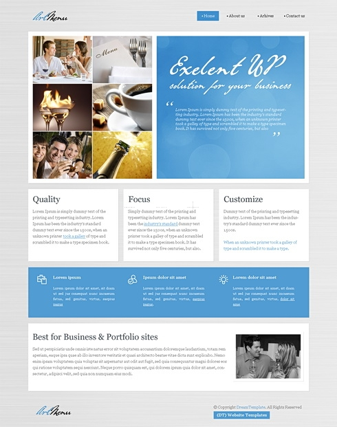 Template Image for ElegantPaper - WordPress Theme