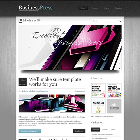 Template Image for BusinessPress - WordPress Template