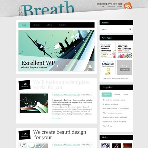 Template Image for Breath - WordPress Template