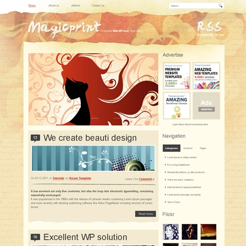 Template Image for MagicPrint - WordPress Theme