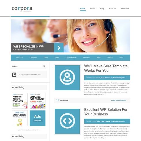 Template Image for CorPora - WordPress Template