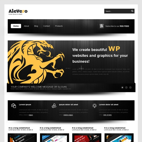 Template Image for Alevero - WordPress Theme